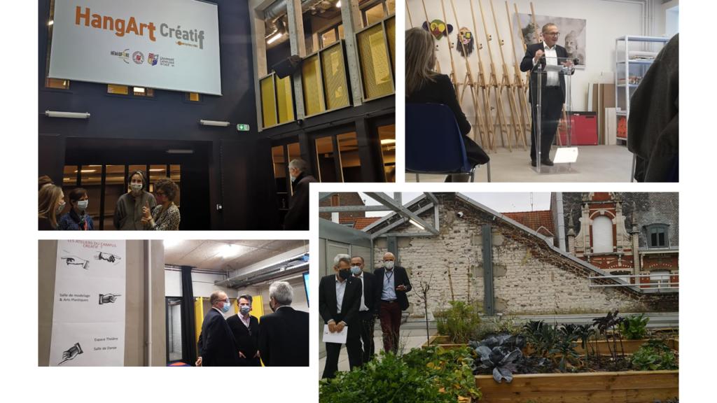L'Université Catholique de Lille inaugure le Hang'Art Créatif by Entreprises & Cités !