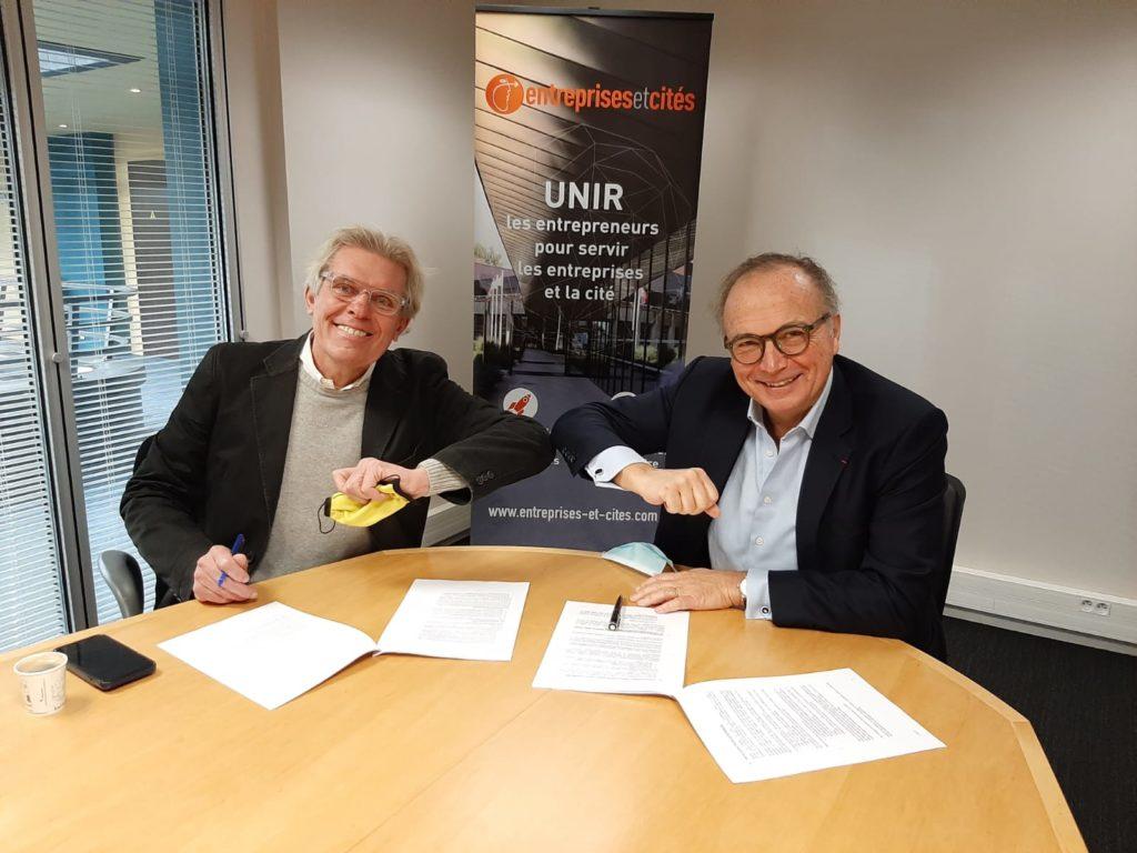 Entreprises & Cités et 60 000 Rebonds signent leur convention de mécénat.