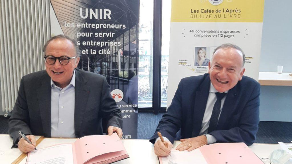 Entreprises & Cités et Y Croire signent leur convention de mécénat.