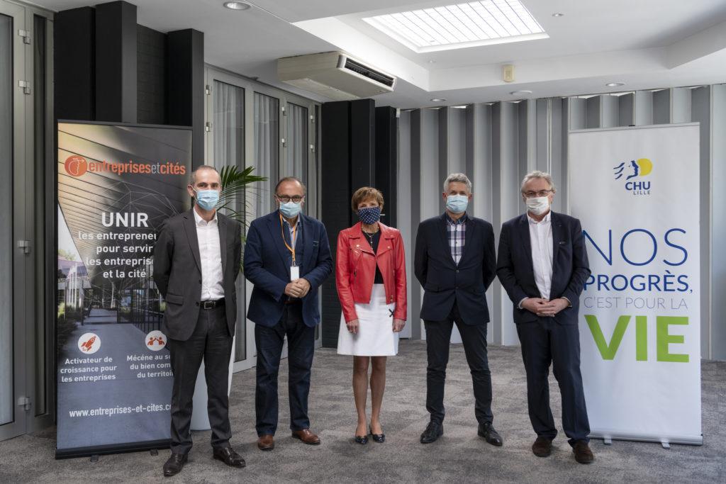 Entreprises & Cités et le Fonds de dotation du CHU de Lille signent leur convention de mécénat.